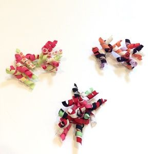 Set of 3 Gymboree corkscrew bows